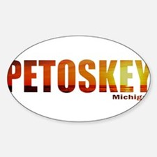 Petoskey, Michigan Oval Decal