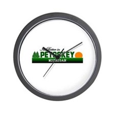 Its Better in Petoskey, Michi Wall Clock