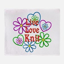 Live Love Knit Throw Blanket