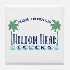 Hilton Head Happy Place - Tile Coaster