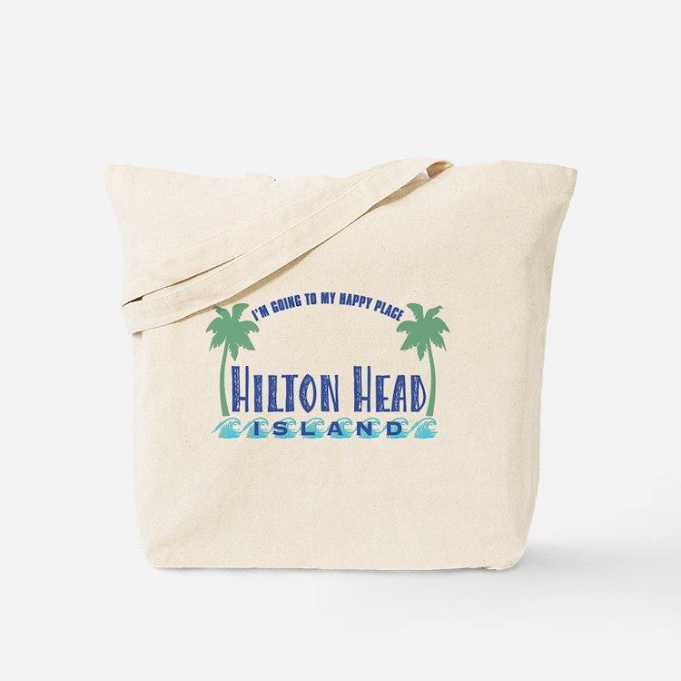 Hilton Head Happy Place - Tote or Beach Bag
