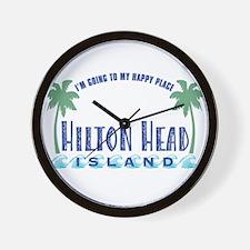 Hilton Head Happy Place - Wall Clock