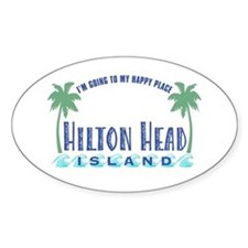 Hilton Head Happy Place - Oval Decal
