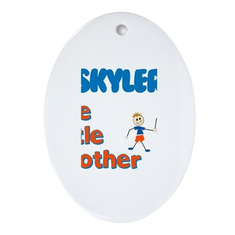 Skyler - The Little Brother Oval Ornament