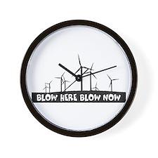 Wind Power Windmills Wall Clock