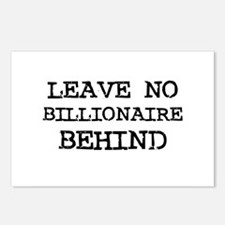 Leave no billionaire behind  Postcards (Package of