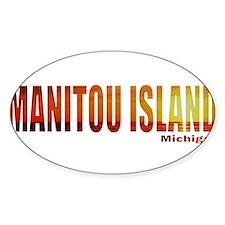 Manitou Island, Michigan Oval Decal