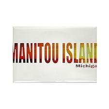 Manitou Island, Michigan Rectangle Magnet