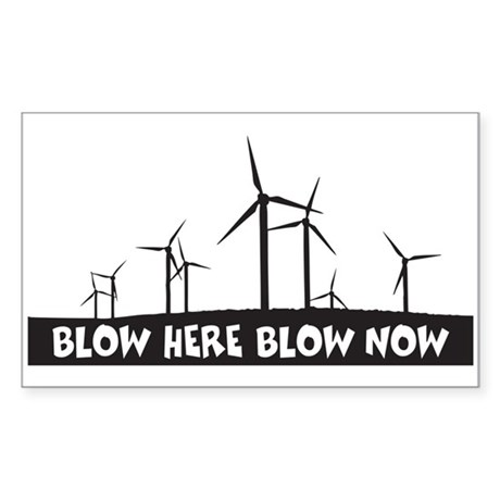 Wind Power Windmills Sticker (Rectangle)