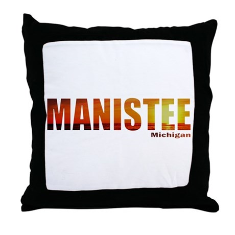 Manistee, Michigan Throw Pillow
