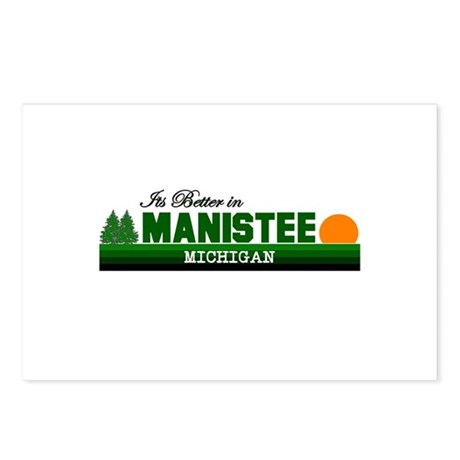 Its Better in Manistee, Michi Postcards (Package o