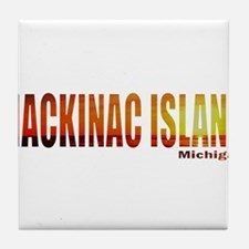 Mackinac Island, Michigan Tile Coaster