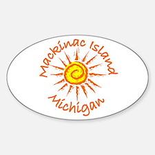Mackinac Island, Michigan Oval Decal
