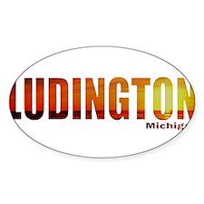 Ludington, Michigan Oval Decal