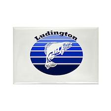 Ludington, Michigan Rectangle Magnet