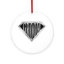 SuperGroom(metal) Ornament (Round)