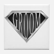 SuperGroom(metal) Tile Coaster