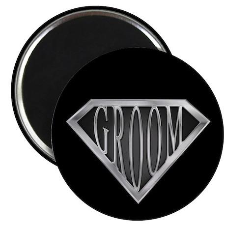 """SuperGroom(metal) 2.25"""" Magnet (10 pack)"""