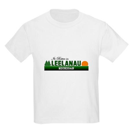 Its Better in Leelanau, Michi Kids Light T-Shirt