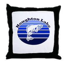 Houghton Lake, Michigan Throw Pillow