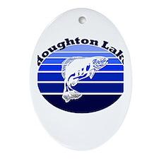 Houghton Lake, Michigan Oval Ornament