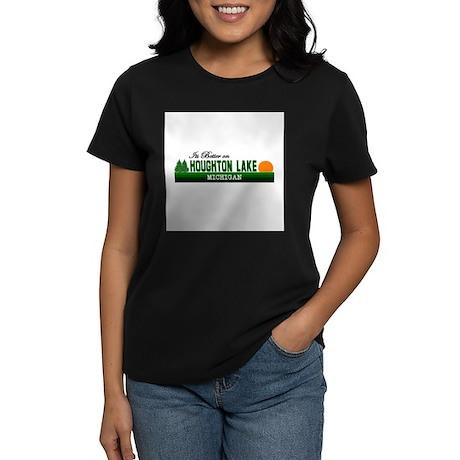 Its Better in Houghton Lake, Women's Dark T-Shirt