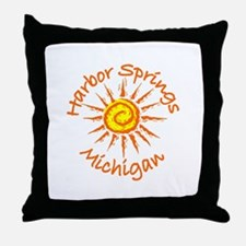 Harbor Springs, Michigan Throw Pillow