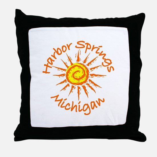 Harbor Springs, Michigan Throw Pillow
