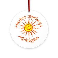 Harbor Springs, Michigan Ornament (Round)