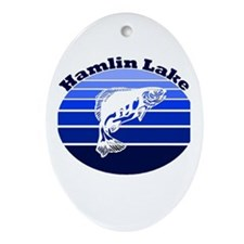 Hamlin Lake, Michigan Oval Ornament