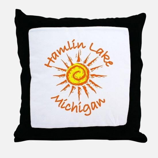 Hamlin Lake, Michigan Throw Pillow