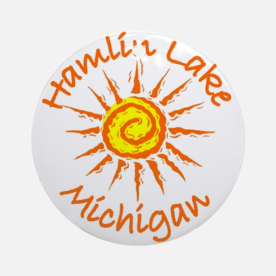 Hamlin Lake, Michigan Ornament (Round)
