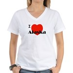 I Love Alaska! Women's V-Neck T-Shirt