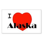 I Love Alaska! Rectangle Sticker 10 pk)