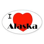 I Love Alaska! Oval Sticker (10 pk)