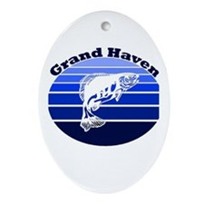 Grand Haven, Michigan Oval Ornament
