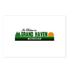 Its Better in Grand Haven, Mi Postcards (Package o