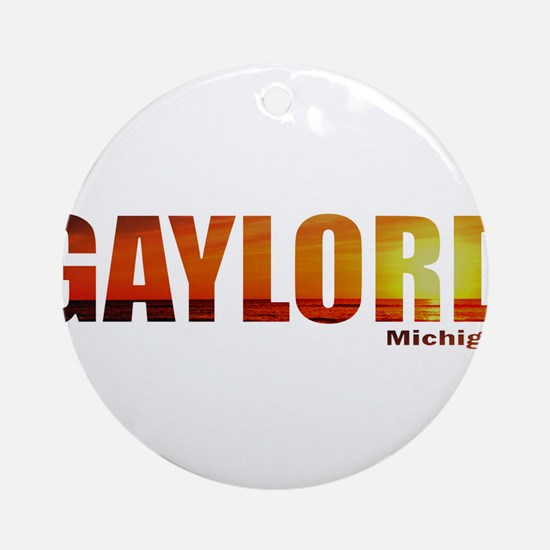Gaylord, Michigan Ornament (Round)