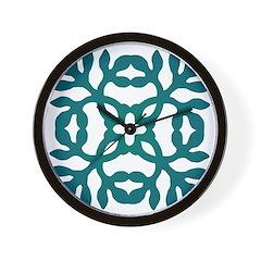 Green Papercut Wall Clock