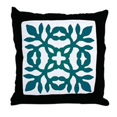 Green Papercut Throw Pillow