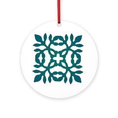 Green Papercut Ornament (Round)