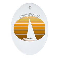 Gaylord, Michigan Oval Ornament