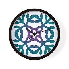 Colorful Papercut Wall Clock