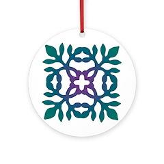 Colorful Papercut Ornament (Round)