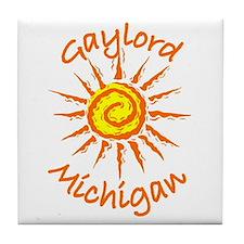 Gaylord, Michigan Tile Coaster