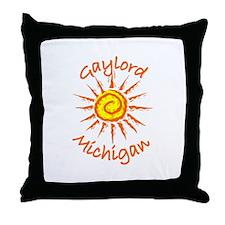 Gaylord, Michigan Throw Pillow