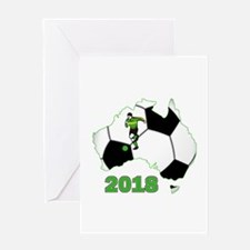 Football World Cup Australia 2018 Greeting Card