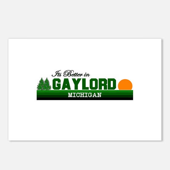 Its Better in Gaylord, Michig Postcards (Package o
