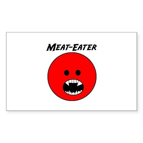 Meat-Eater! Rectangle Sticker
