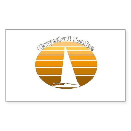 Crystal Lake, Michigan Rectangle Sticker